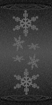 雪と魔方陣(モノクロ�T)(200)