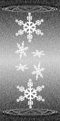 雪と魔方陣(モノクロ�U)(200)